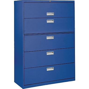 Sandusky 36in. Lateral File, 5-Drawer, Blue