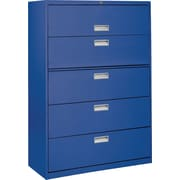 Sandusky 36 Lateral File, 5-Drawer, Blue