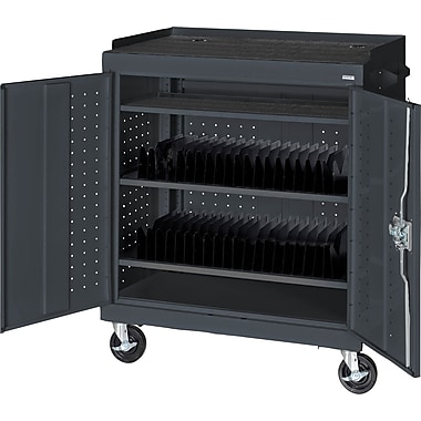 Sandusky Mobile Tablet Cart, Charcoal