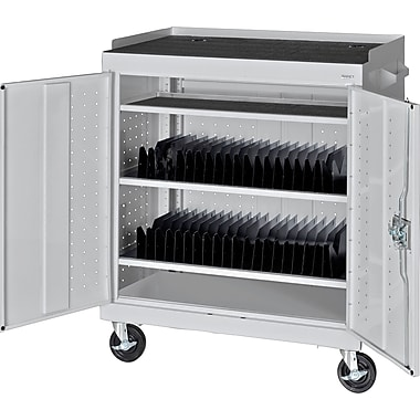 Sandusky Mobile Tablet Cart, Dove Gray