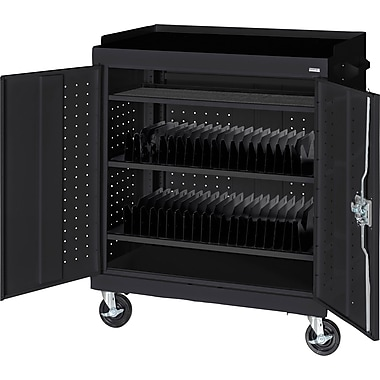 Sandusky Mobile Tablet Cart, Black