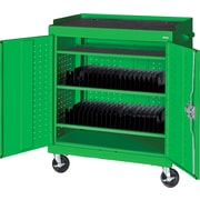 Sandusky Mobile Tablet Cart, Primary Green
