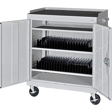 Sandusky Mobile Tablet Cart, Multi Granite