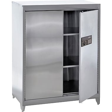 Sandusky Stainless Steel Counter Height Cabinet with Legs