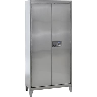 Sandusky Stainless Steel Storage Cabinet with Legs