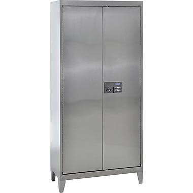 Sandusky Stainless Steel Storage Cabinet with Legs, 36x78