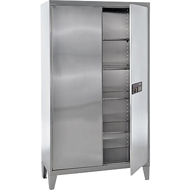 Sandusky Stainless Steel Storage Cabinet with Legs, 48x78