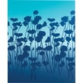 Staples® 2-Pocket Poly Folder, Gradient with flowers
