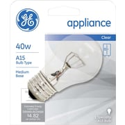 40 Watt GE Incandescent A-15 Appliance Bulb, Clear