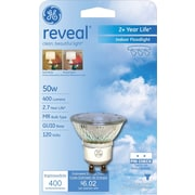 50 Watt GE Reveal® Quartzline® MR-16 Halogen Floodlight, Clear