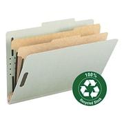 "Pressboard Classification Folder, 2"" Expansion, 2 dividers, Legal,, Gray/Green, 10/BX"
