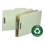 "Classification Folder, 1 Divider, 2"" Expansion, 2/5 Cut, Legal,, Gray/Green, 10/BX"
