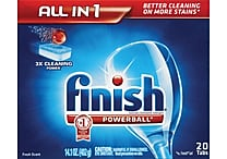 Finish® Powerball Dishwasher Tablets, 20/Pack