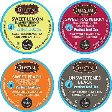 Keurig K-Cup Celestial Seasonings Perfect Iced Tea Variety Pack, 22/Pack