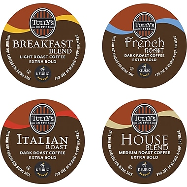 Keurig® K-Cup® Tully's® Coffee House Collection, Regular, 22/Pack