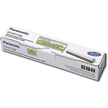 Panasonic Yellow Toner Cartridge (KX-FATY508), High Yield