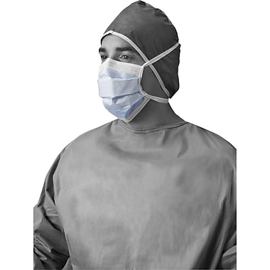 X-Tra® Surgical Face Masks with Ties, Blue, 300/Pack