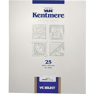 Kentmere 6008200 Variable Contrast Photo Paper, 8in.(W) x 10in.(L), Gloss, 25 Sheets
