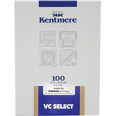 Kentmere 6007540 Variable Contrast Photo Paper, 5in.(W) x 7in.(L), Gloss, 100 Sheets