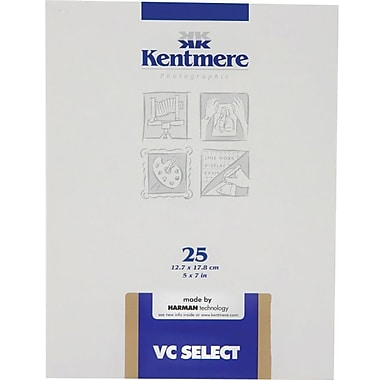Kentmere 6007669 Variable Contrast Photo Paper, 5in.(W) x 7in.(L), Gloss, 25 Sheets