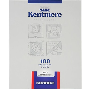 Kentmere 6012490 Neutral Photo Paper, 8in.(W) x 10in.(L), Gloss, 100 Sheets