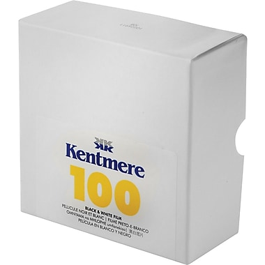 Kentmere 6012588 Black & White Cut Length Film, 35 mm(W) x 100'(L), ISO 100