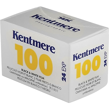 Kentmere 6012368 Black & White Cassette Film, 35 mm(W), ISO 100