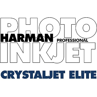 Harman Multimedia 1166857 Crystaljet Elite Inkjet Paper, 24in.(W) x 100'(L), Gloss