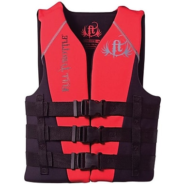 Full Throttle® 4510 Adult Dual-Sized Rapid-Dry Vest, S/M, Red/black