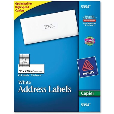Avery® UC DOL 1060 Clear Vinyl Permanent Kraft Digital Overlaminate Films
