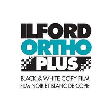 Ilford 1813184 Orthochromatic Sheet Film, 3 1/2in.(W) x 4 3/4in.(L), 25 Sheets