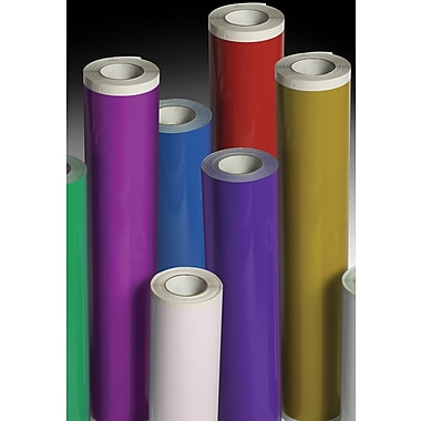 Avery® 700-235-O Yellow Vinyl Calendered Permanent Kraft Opaque Film, 15in. x 50 yds punched