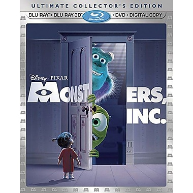 Monsters, Inc. 3D (Blu-Ray + DVD + Digital Copy)