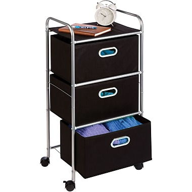 Honey Can Do Limited Edition 3 Drawer Fabric Storage Cart
