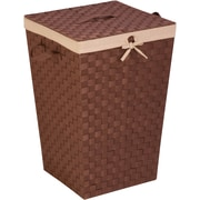 Honey Can Do Woven Strap Hamper with Liner and Lid