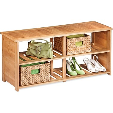 Honey Can Do Bamboo Shoe Bench, (SHO-02186)