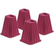 Honey Can Do Bed Risers, Set of 4, Pink