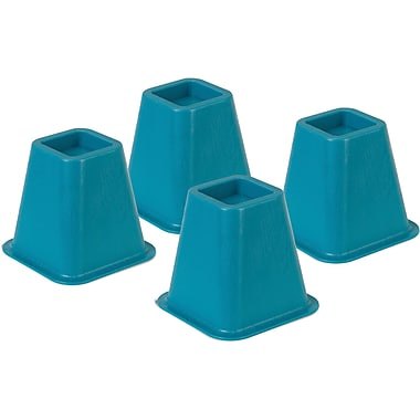 Honey Can Do Bed Risers, Set of 4, Blue
