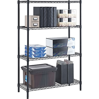Whalen 54in. Complete Wire Shelving Unit, Black