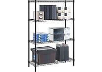 Whalen 54-Inch Wire Shelving Storage Unit, Black