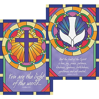 Barker Creek Stained Glass Poster Duet, 13 3/8in. x 19in.