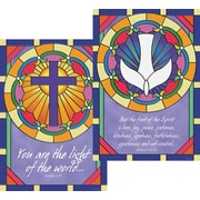 Barker Creek Stained Glass Poster Duet, 13 3/8 x 19