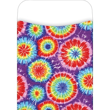 Barker Creek Peel and Stick Library Pocket, Tie-dye Design