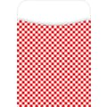Barker Creek Library Pocket, Red Check Design