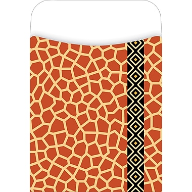 Barker Creek Library Pocket, Giraffe Design