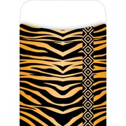 Barker Creek Library Pocket with Peel & Stick Label, Tiger Design