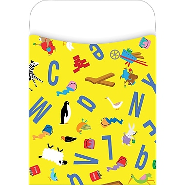 Barker Creek Library Pocket, ABC Animals Design