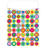 Barker Creek Peel and Stick Library Pocket, Disco Dots Design
