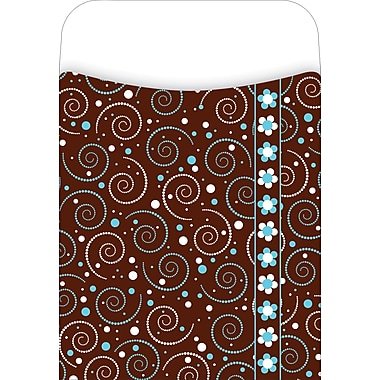 Barker Creek Peel and Stick Library Pocket, Hot to Dot Design