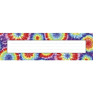 Barker Creek Tie-dye Desk Tag, 12in. L x 3 1/2in. W